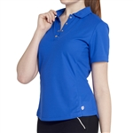 GG Blue Tina Short Sleeve Golf Polo - Royal