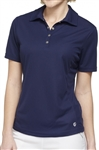 GG Blue Tina Short Sleeve Navy Golf Polo