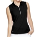 GG Blue Katy Sleeveless Golf Polo - Black
