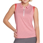 GG Blue Katy Sleeveless Golf Polo - Ruby Align