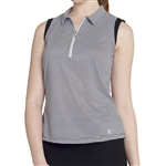 GG Blue Katy Sleeveless Golf Polo - Black Align