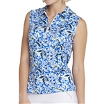 GG Blue Katy Sleeveless Golf Polo - Energy