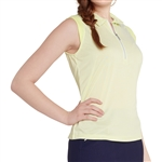 GG Blue Katy Sleeveless Golf Polo - Lime Align