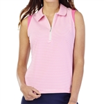 GG Blue Katy Sleeveless Golf Polo - Cerise Align
