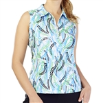 GG Blue Katy Sleeveless Golf Polo - Zest