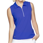 GG Blue Katy Sleeveless Golf Polo - Clematis