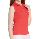 GG Blue Leah Sleeveless Golf Polo - Ruby