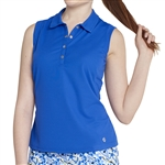 GG Blue Leah Sleeveless Golf Polo - Royal