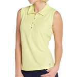 GG Blue Leah Sleeveless Golf Polo - Lime