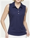 GG Blue Leah Navy Sleeveless Golf Polo