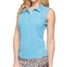 GG Blue Leah Basin Blue Sleeveless Golf Polo