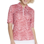 GG Blue Jane Short Sleeve Golf Polo - Ruby Zebra