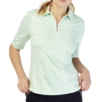 GG Blue Jane Short Sleeve Golf Polo - Turtle Dot