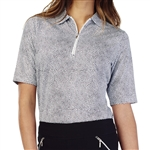 GG Blue Jane Short Sleeve Golf Polo - Black Dot