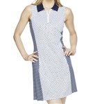 GG Blue Nova Sleeveless Golf Dress - Navy Dot/Unity