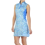 GG Blue Harper Sleeveless Golf Dress - Waves