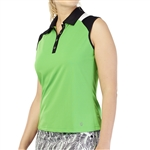 GG Blue Dessa Sleeveless Golf Polo - Turtle