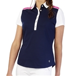 GG Blue Tina Short Sleeve Golf Polo - Navy