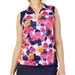 GG Blue April Sleeveless Golf Polo - Begonia