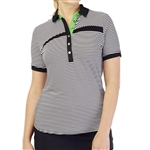 GG Blue Kesha Short Sleeve Golf Polo - Guru
