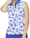GG Blue Holly Sleeveless Golf Polo - Clarity/Clematis