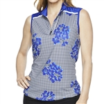 GG Blue Nia Sleeveless Golf Polo - Vibrant/Clematis