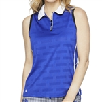 GG Blue Fae Sleeveless Golf Polo - Clematis