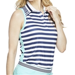 GG Blue Cora Sleeveless Golf Polo - Unity