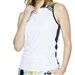 GG Blue Cora Sleeveless Golf Polo - White/Navy