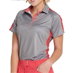 GG Blue Annie Short Sleeve Golf Polo - Gingham Check