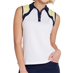 GG Blue Nani Sleeveless Cloud/Navy/Lime Polo