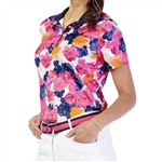 GG Blue Edith Short Sleeve Polo - Begonia