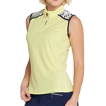 GG Blue Nadya Sleeveless Lime/Navy Polo