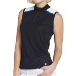 GG Blue Nadya Sleeveless Golf Polo - Black/White