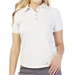 GG Blue Claire Short Sleeve Golf Polo - White Sparkle