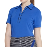 GG Blue Cora Short Sleeve Polo - Royal/Black
