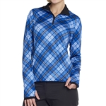 GG Blue Ellie Long Sleeve Top - Joy Plaid