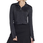 GG Blue Ellie Long Sleeve Top - Black Sparkle