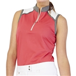 GG Blue Rosie Sleeveless Golf Polo - Ruby/Smoke