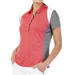 GG Blue Raven Short Sleeve Golf Polo - Ruby