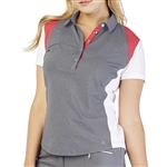 GG Blue Raven Short Sleeve Golf Polo - Smoke/Ruby