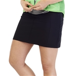GG Blue Wedge Golf Skort - Black