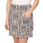 "GG Blue Marker 18"" Brown Zebra Golf Skort"