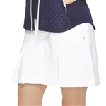 GG Blue Boca Golf Skort - White