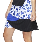 "GG Blue Yaya 18"" Golf Skort - Clarity/Clematis/Black"