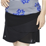 "GG Blue Yaya 17.5"" Golf Skort - Black"
