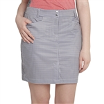 GG Blue Dune Golf Skort - Gingham Night