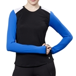 GG Blue Bold Long Sleeve Black/Royal Active Tee