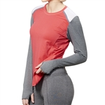 GG Blue Bold Long Sleeve Active Tee Ruby/Smoke