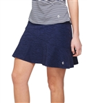 GG Blue Flounce Pull On Navy Golf Skort